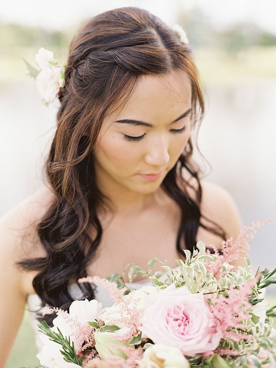 Featured Photo of Middle Part Wedding Hairstyles
