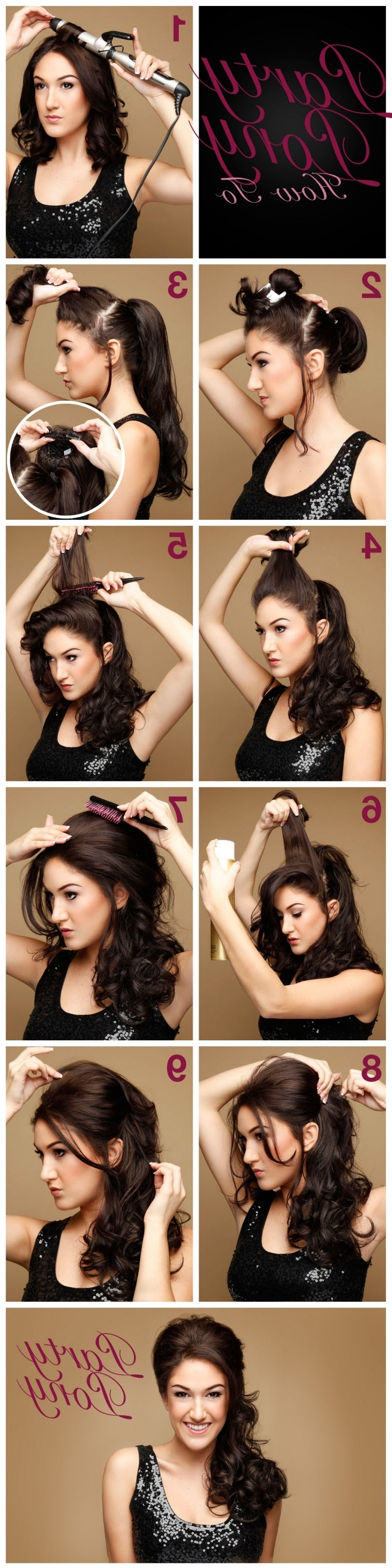 Pony, Ponytail And Pony Inside Fashionable Bouffant Quiff Ponytail Wedding Hairstyles (View 13 of 15)