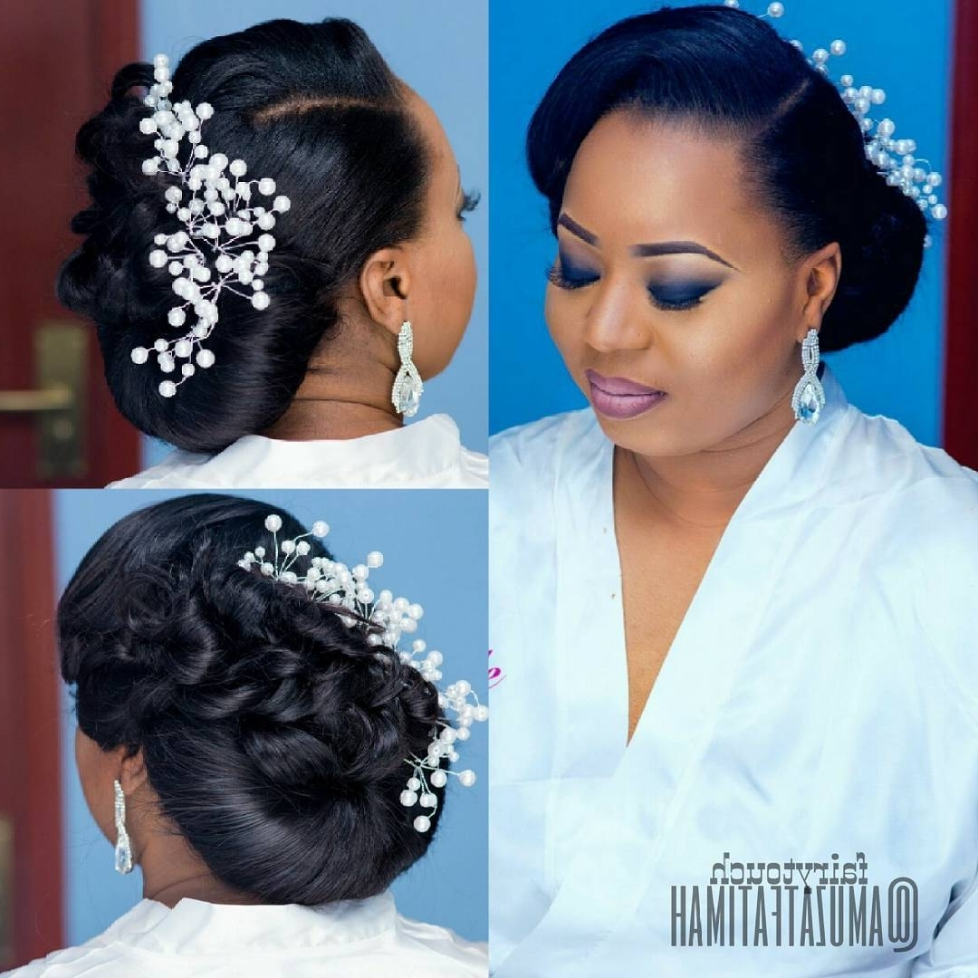 Popular Bridal Wedding Hairstyles Intended For 16 Gorgeous Wedding Hairstyles For Nigerian Brideshair Stylist (View 10 of 15)