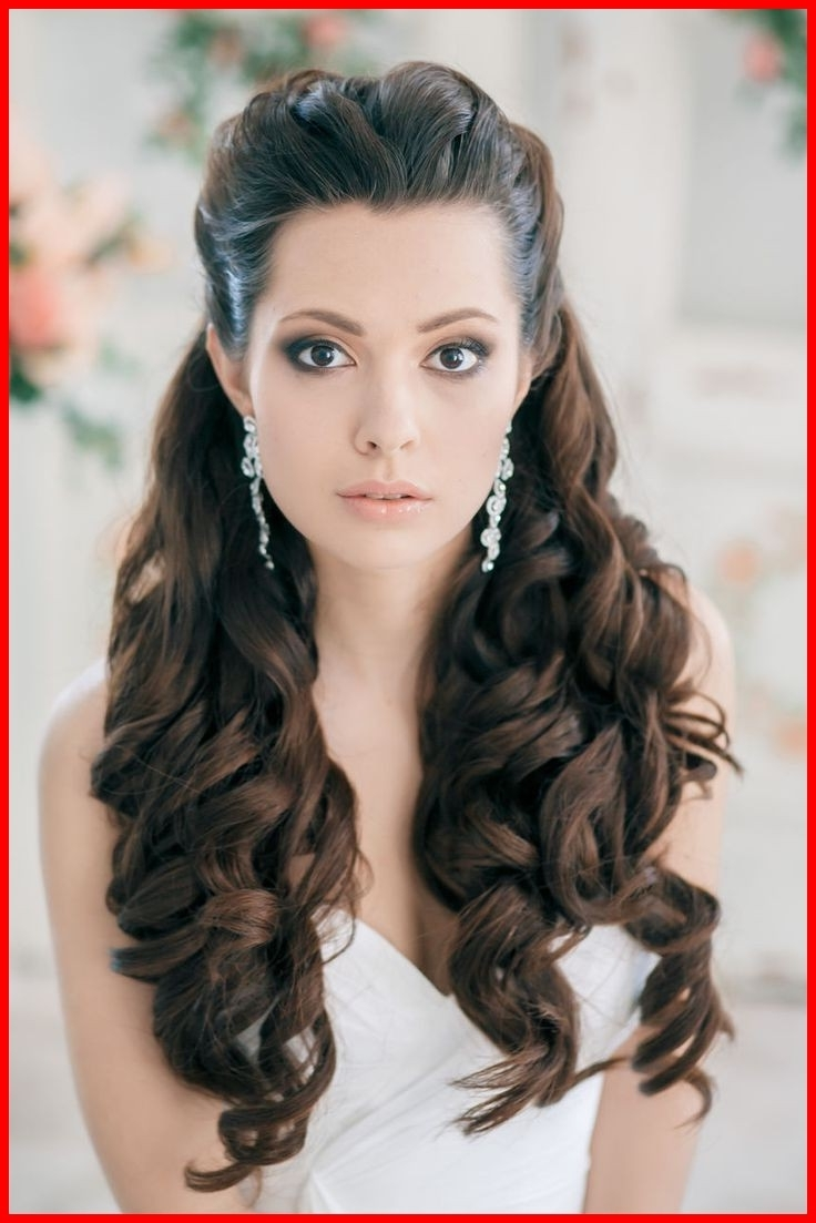 Popular Down Long Hair Wedding Hairstyles Pertaining To New Wavy Wedding Hairstyles For Long Hair Collection Of Wedding (View 11 of 15)