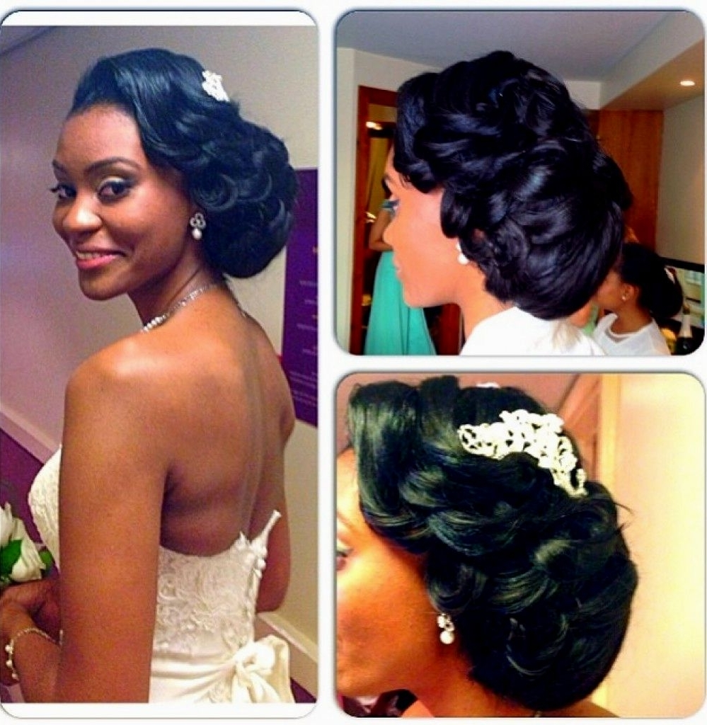 Popular Ebony Wedding Hairstyles In Wedding Hairstyles For Black Women – Hairstyles Inspiration (View 9 of 15)
