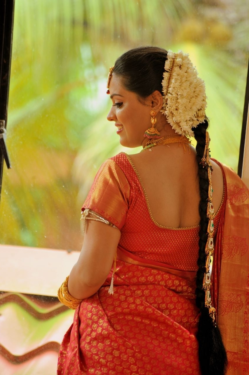Popular Hindu Wedding Hairstyles For Long Hair Intended For Hair Stylist Kerala, #bridal Hair Style, #wedding Hair Style (View 9 of 15)