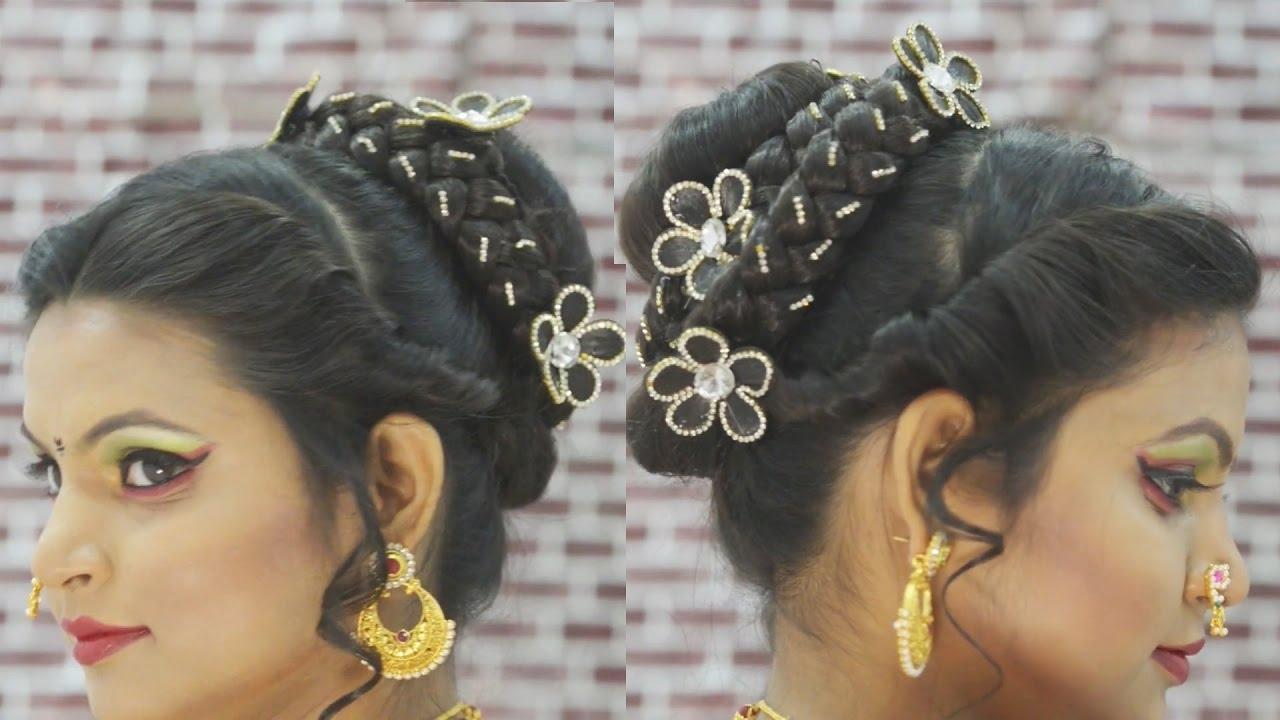 Popular Maharashtrian Wedding Hairstyles For Long Hair Pertaining To मराठी ब्राइडल हेयर स्टाइल Marathi Bridal (View 12 of 15)
