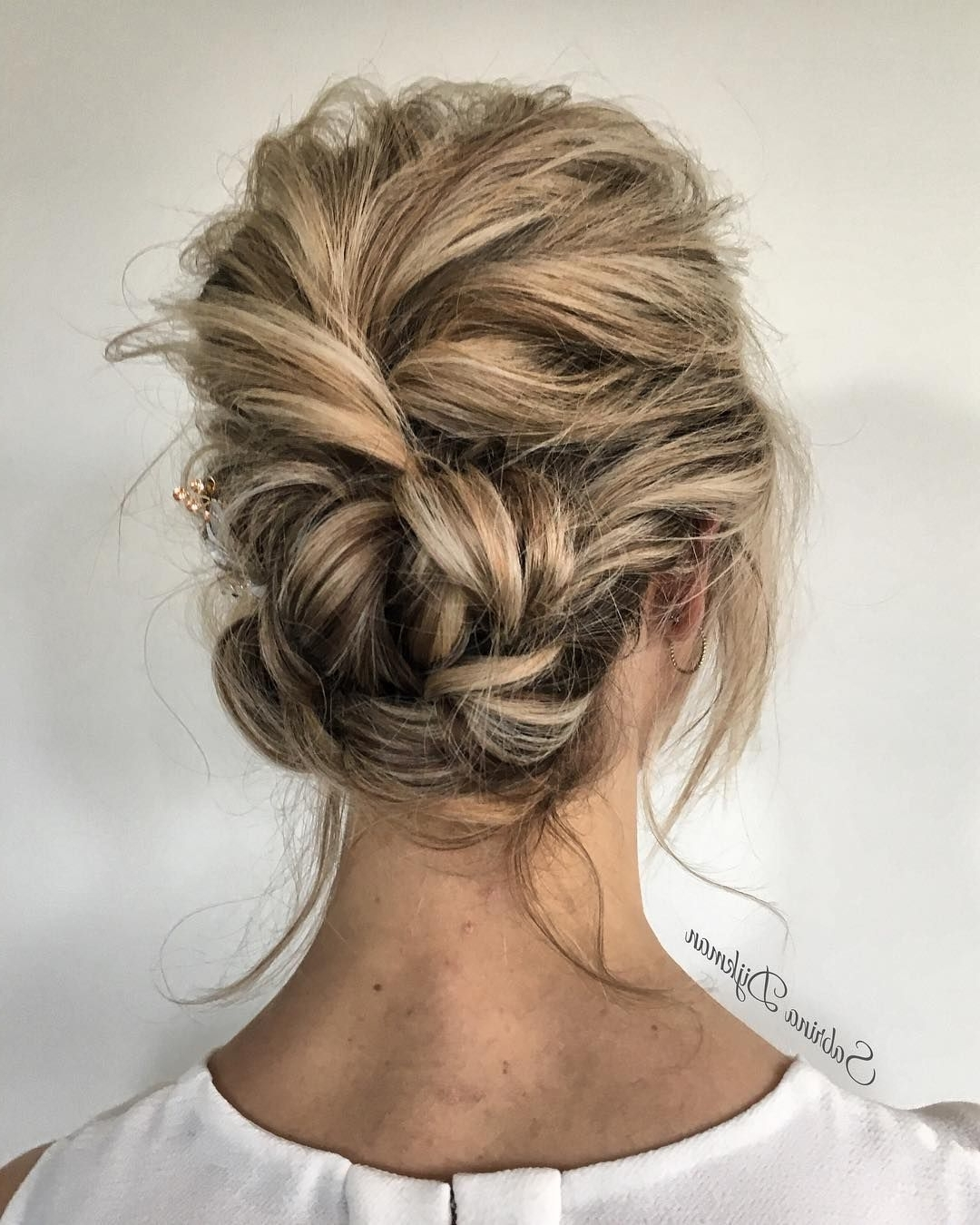 Popular Messy Updos Wedding Hairstyles Throughout Wedding Updo Hairstyle ,messy Updo Wedding Hairstyles ,chignon (View 13 of 15)