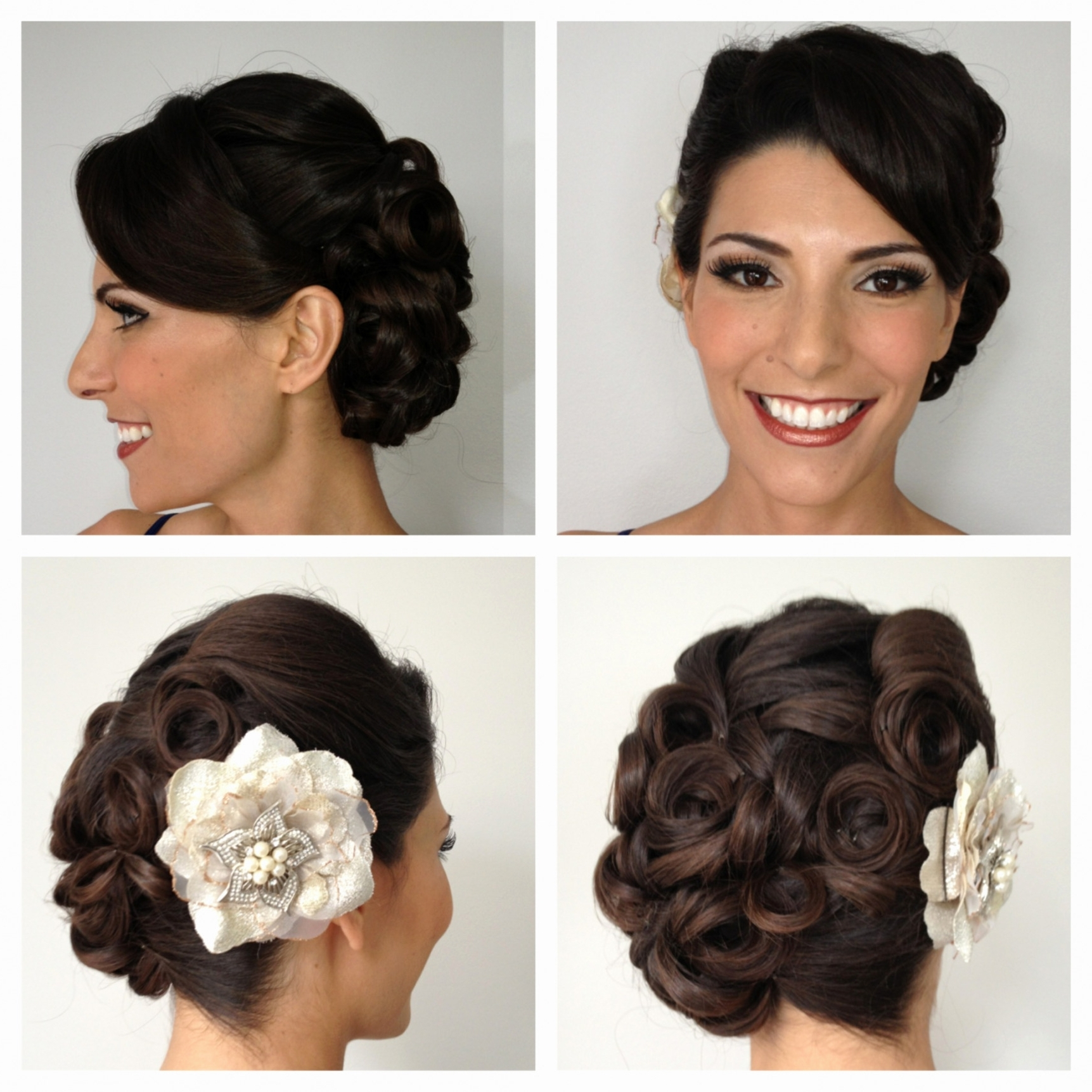 Popular Pin Up Wedding Hairstyles With Best Of Pin Up Wedding Hairstyles – Hair Inspiration (View 13 of 15)