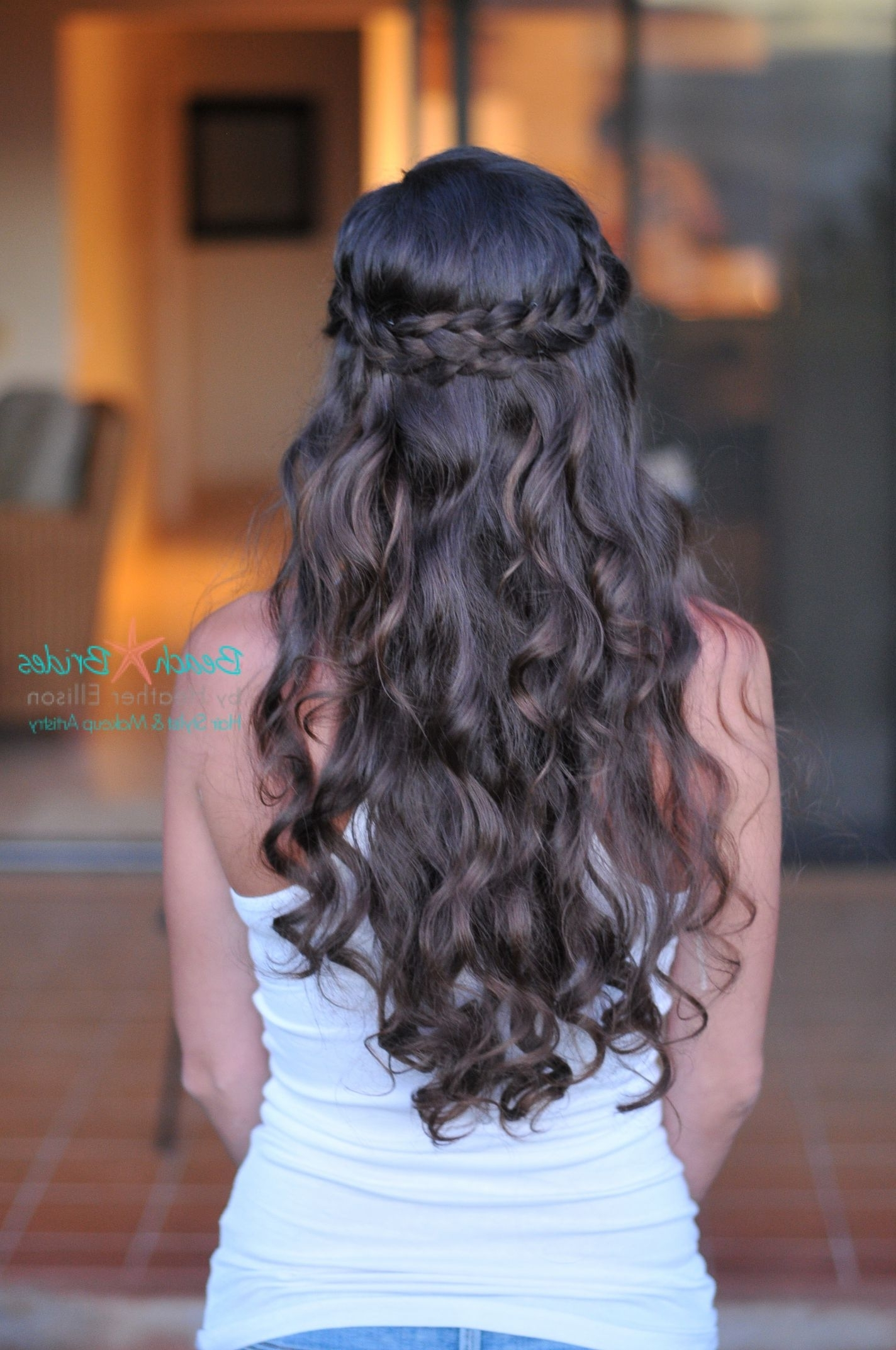 Popular Tied Up Wedding Hairstyles For Long Hair With Half Up With Braid. I Love This Wedding Hair Too (View 11 of 15)