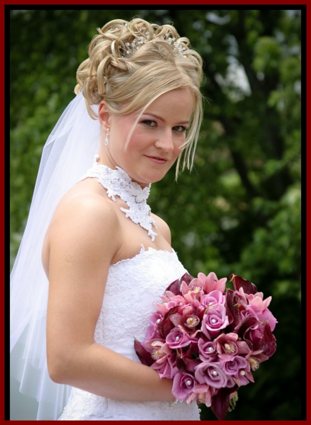 Popular Updos Wedding Hairstyles With Veil Within Amazing Wedding Hairstyles Updos With Braids For Prom Popular Long (View 8 of 15)