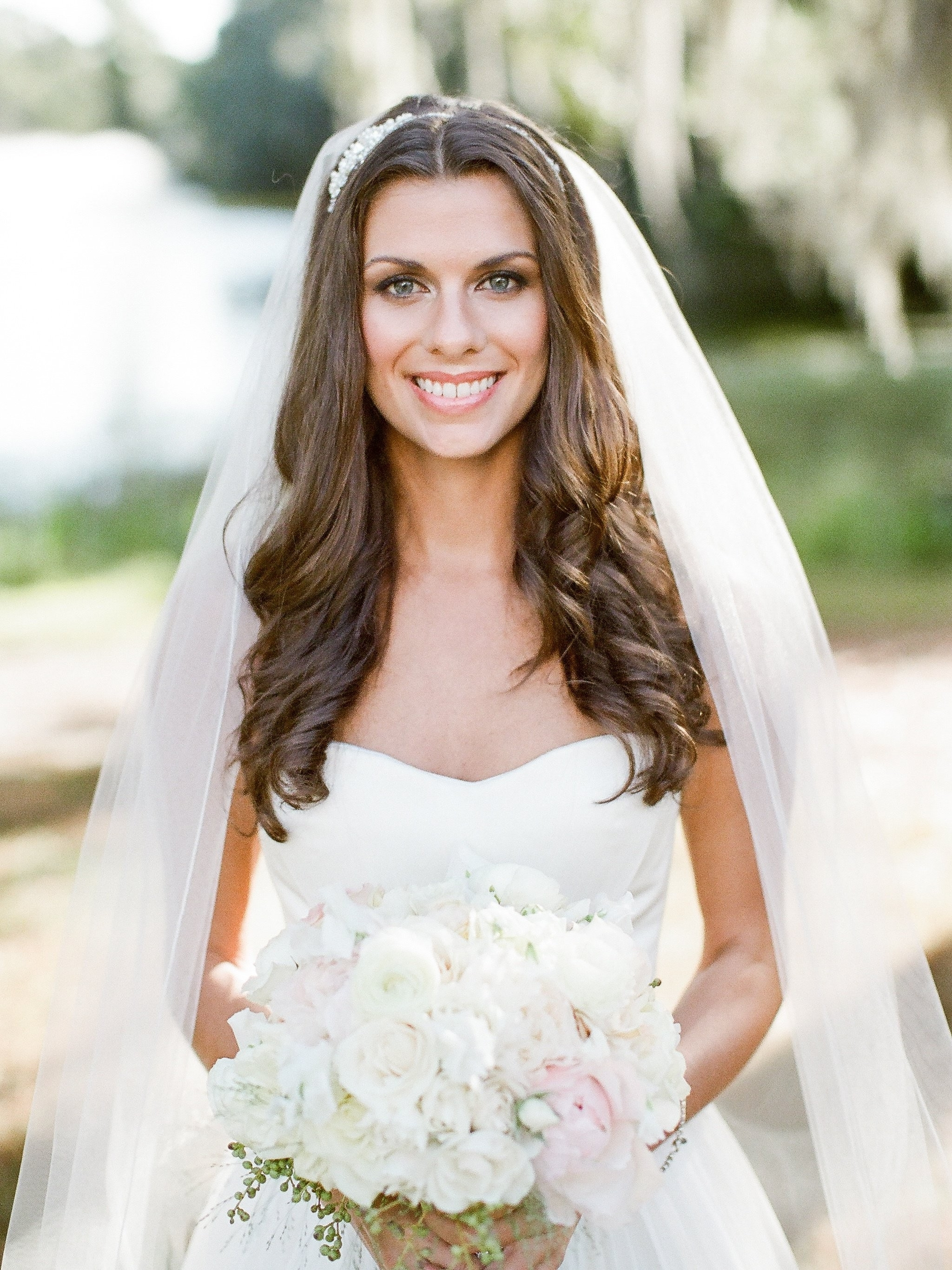 Popular Wedding Hairstyles Down With Headband Intended For Striking Loose Curls Wedding Hair Ideas Half Up Updoes Curly Long (View 10 of 15)