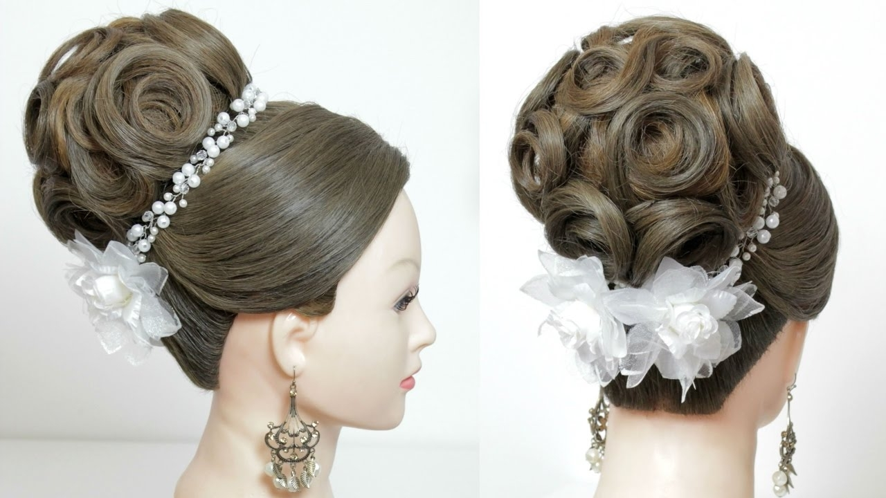 Popular Wedding Hairstyles For Long Bun Hair Pertaining To Bridal Bun Hairstyle (View 11 of 15)