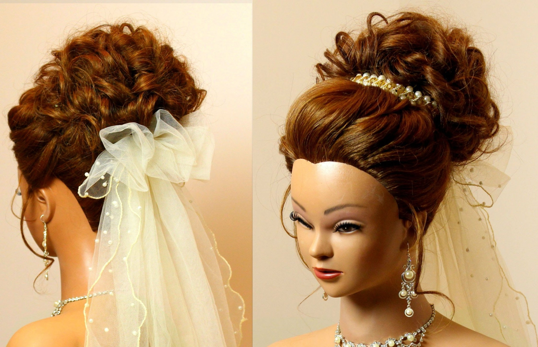 Popular Wedding Hairstyles For Long Romantic Hair With Regard To Bridal Hairstyle For Long Medium Hair Tutorial (View 9 of 15)