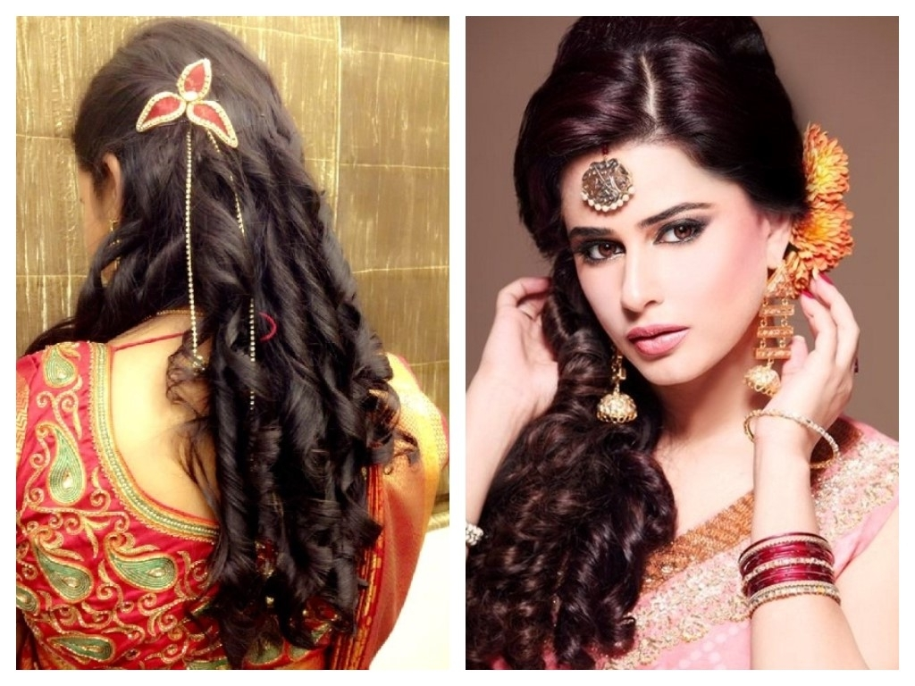 Popular Wedding Hairstyles For Sarees Throughout Festive Look Hairstyles For Sarees – Indian Beauty Tips (View 8 of 15)