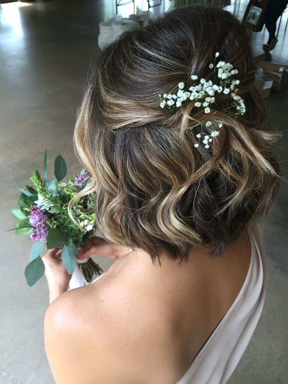Popular Wedding Hairstyles For Short Hair For Bridesmaids Throughout Bridesmaid Hairstyles For Short Hair (Gallery 10 of 15)