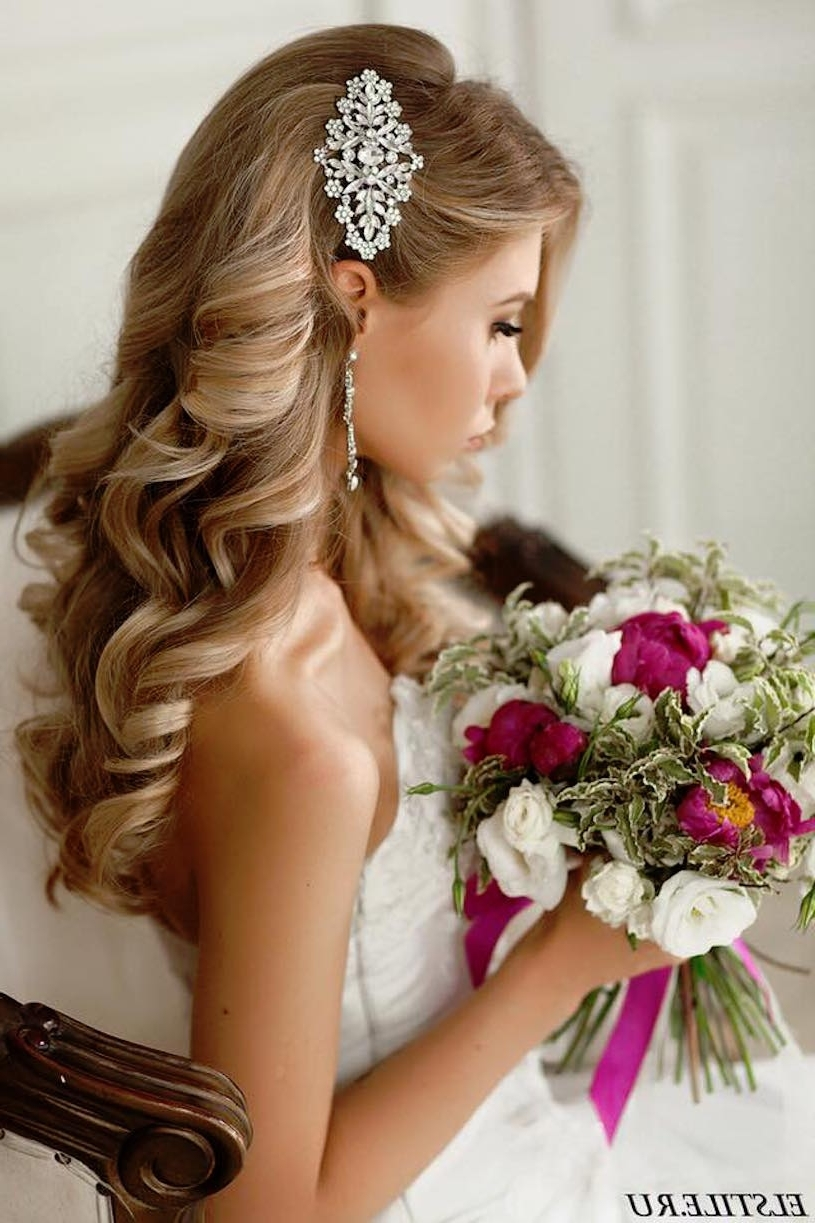 Popular Wedding Hairstyles With Accessories Inside 20 Gorgeous Wedding Hairstyles – Belle The Magazine (View 10 of 15)