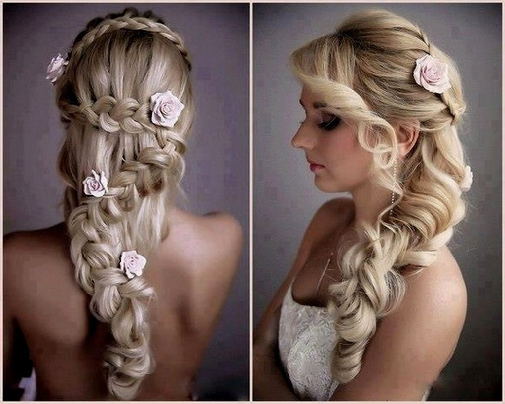 Featured Photo of Wedding Hairstyles With Side Ponytail Braid