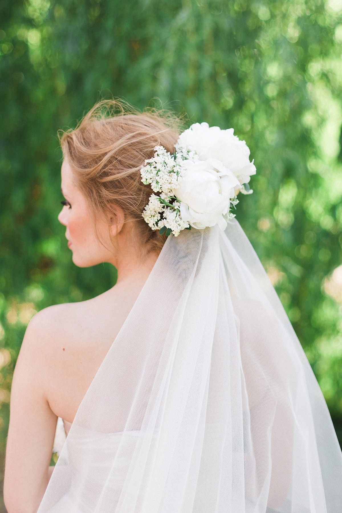 Popular Wedding Hairstyles With Veil And Flower With Flower Veil Wedding Inspirational Wedding Hair With Flowers & Veil (View 2 of 15)