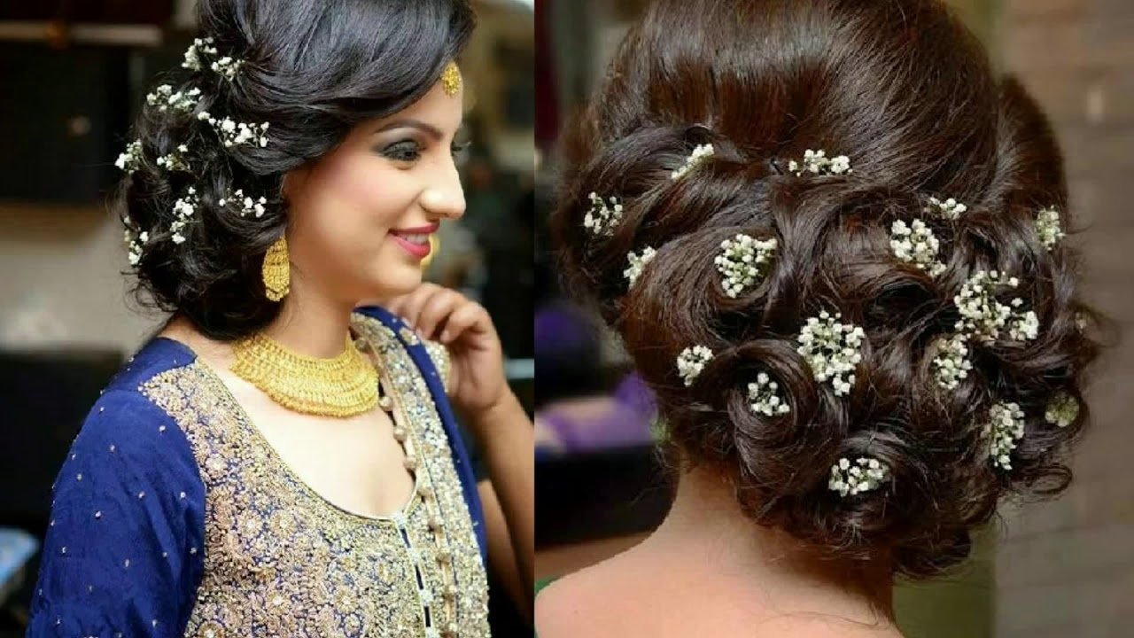 Popular Wedding Reception Hairstyles For Guests In Indian Wedding Reception Hairstyles For Short Hair – Youtube (View 8 of 15)