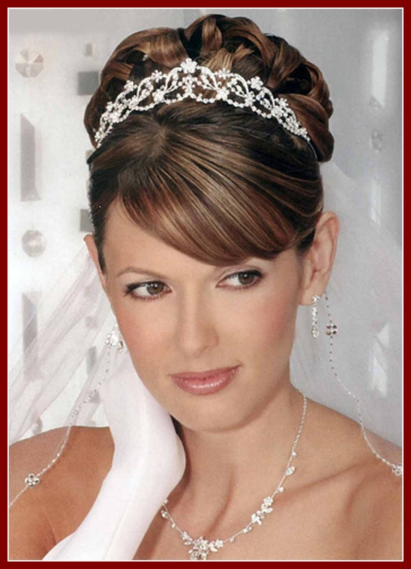 Popular Wedding Updos For Long Hair With Tiara In Awesome Wedding Hair Updos With Tiara And Veil For Long Popular (View 11 of 15)