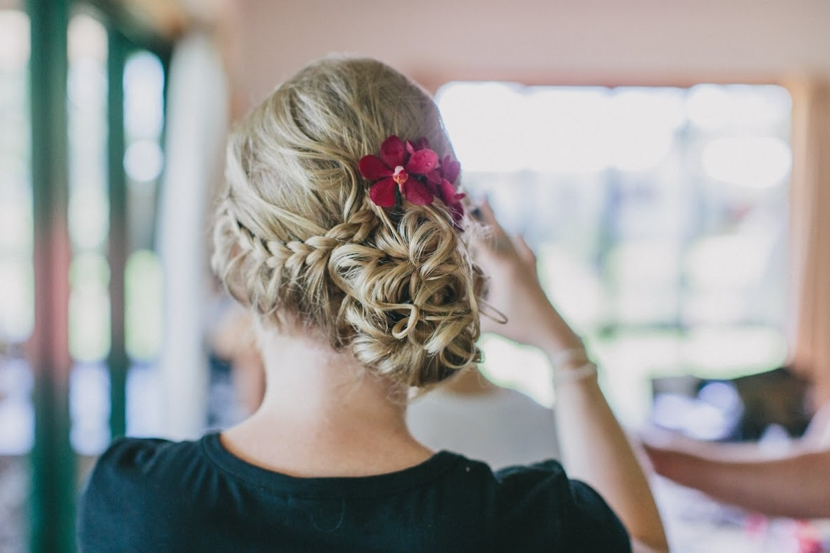 Preferred Beach Wedding Hair For Bridesmaids Throughout Tracey's Mission Beach Wedding – Cairns Bridal Hair (View 6 of 15)
