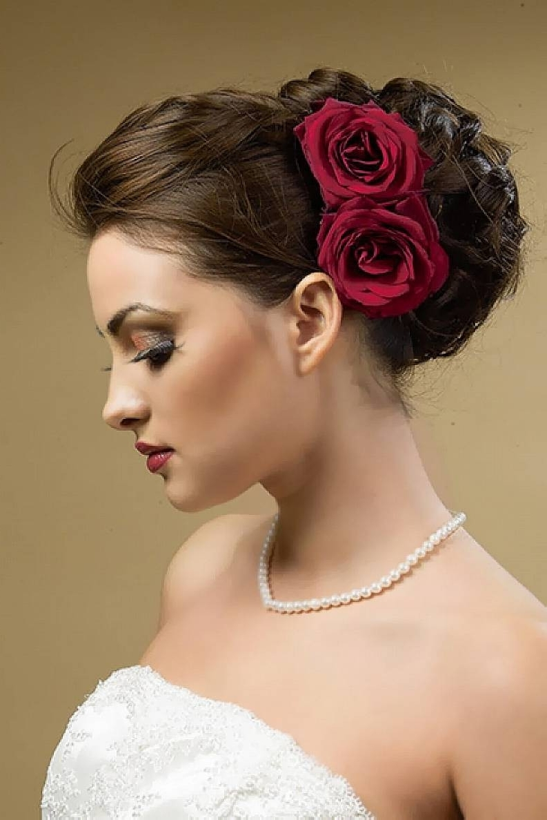 Preferred Curly Side Bun Wedding Hairstyles Intended For Diy Wedding Hair – Curly Side Bun Tutorial – The I Do Moment (View 3 of 15)