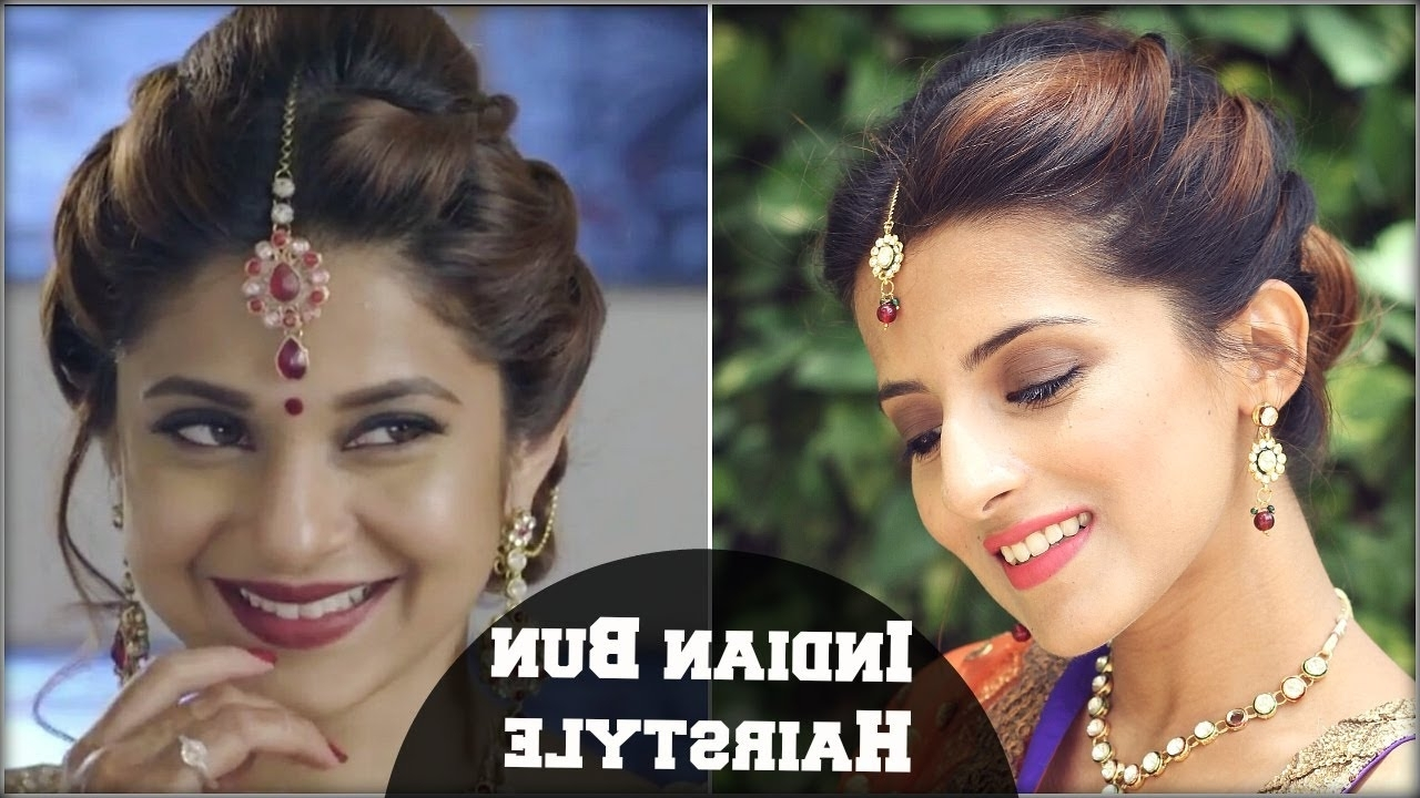 Preferred Indian Bun Wedding Hairstyles With Regard To Beyhadh  Jennifer Winget's Easy Bun Hairstyle For Indian Wedding (View 14 of 15)