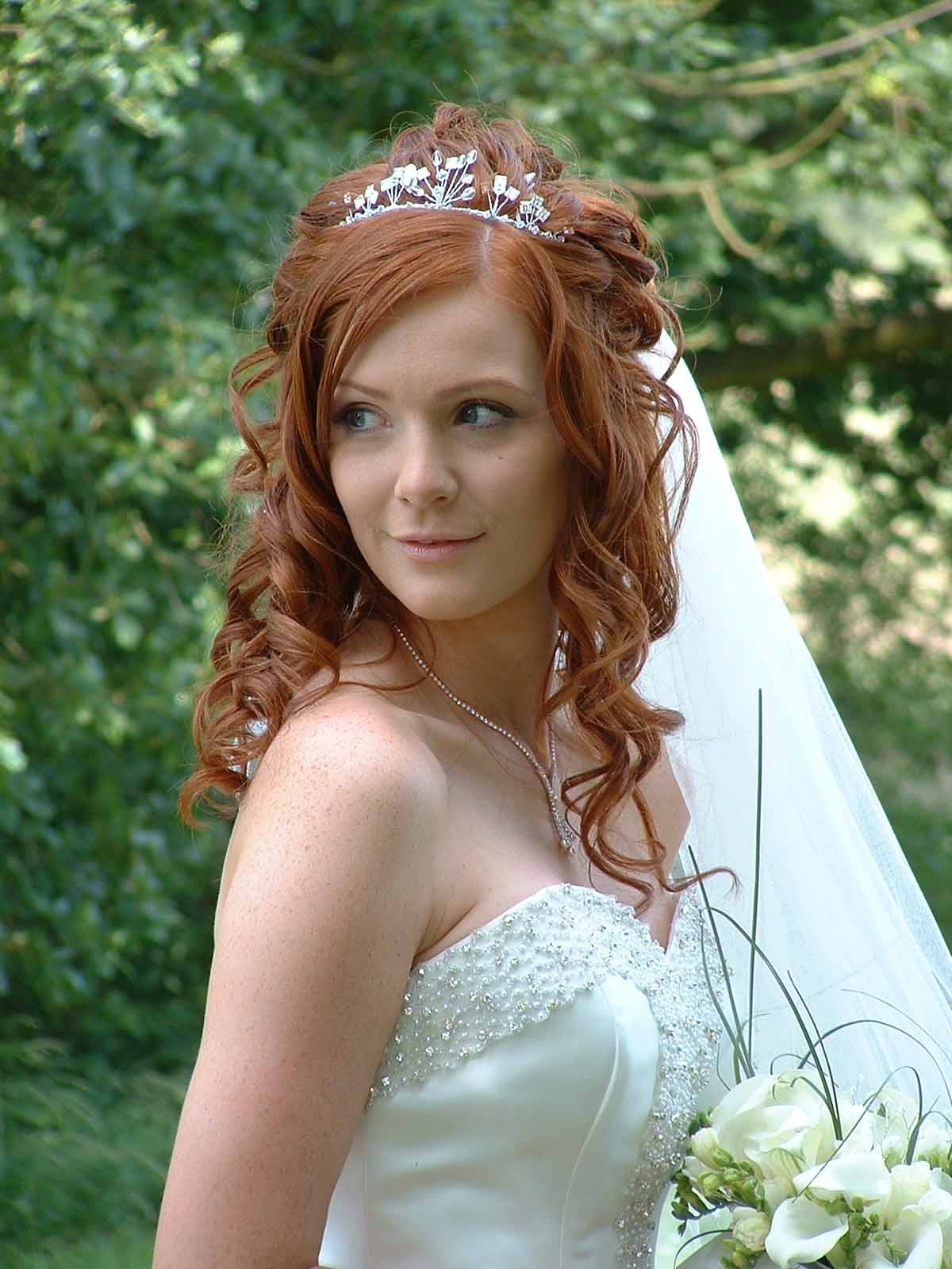 Preferred Tiara Wedding Hairstyles Inside Bridal Hairstyles Half Up Half Down With Veil And Tiara (View 10 of 15)