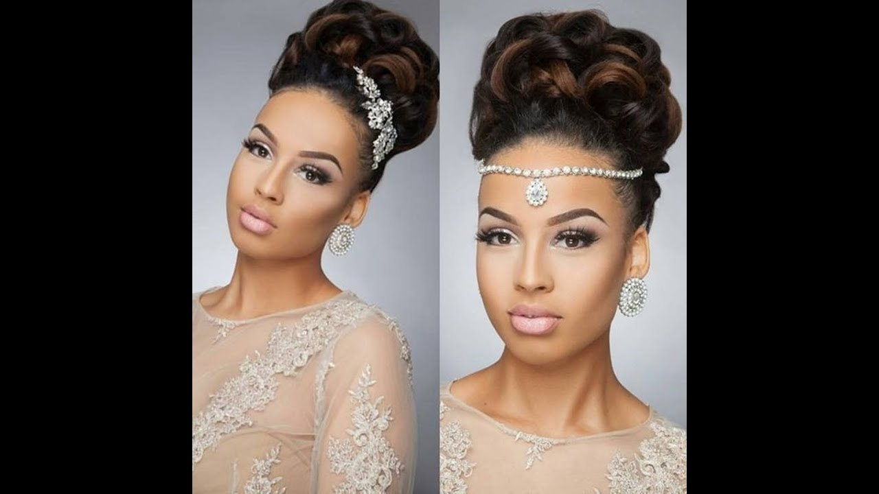 Preferred Wedding Hairstyles For Black Woman In 25 Beautiful Wedding Hairstyles For Black Women To Feel Special (View 9 of 15)