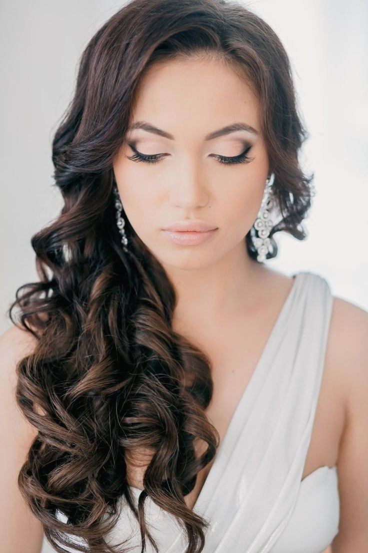 Preferred Wedding Hairstyles For Long Dark Hair Throughout Wedding Hairstyles : Brunette Wedding Hairstyles Download Picture On (View 10 of 15)