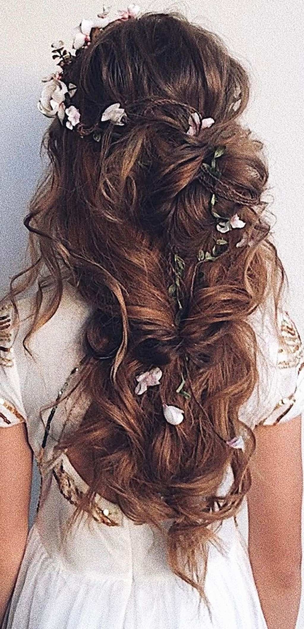 Preferred Wedding Hairstyles For Long Dark Hair With Regard To Wedding Hairstyles For Long Dark Hair Inspirational 35 Wedding Updo (View 11 of 15)