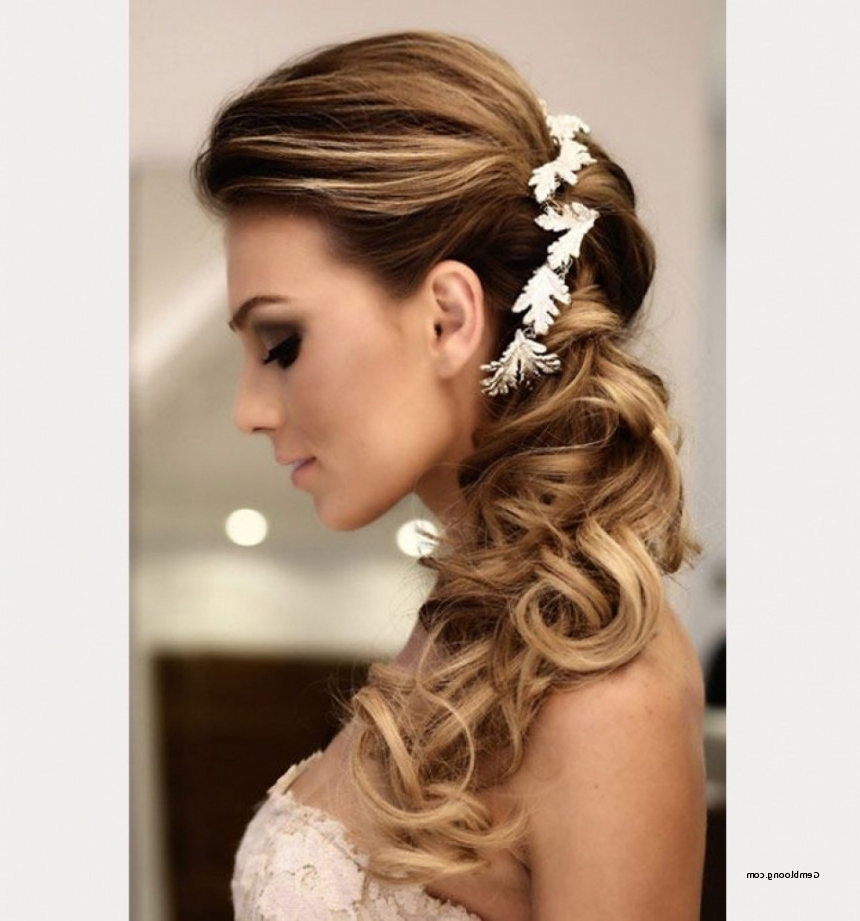 Preferred Wedding Hairstyles For Long Hair Pulled To The Side Pertaining To Wedding Hairstyles For Long Hair Pulled To The Side Lovely Wedding (View 9 of 15)