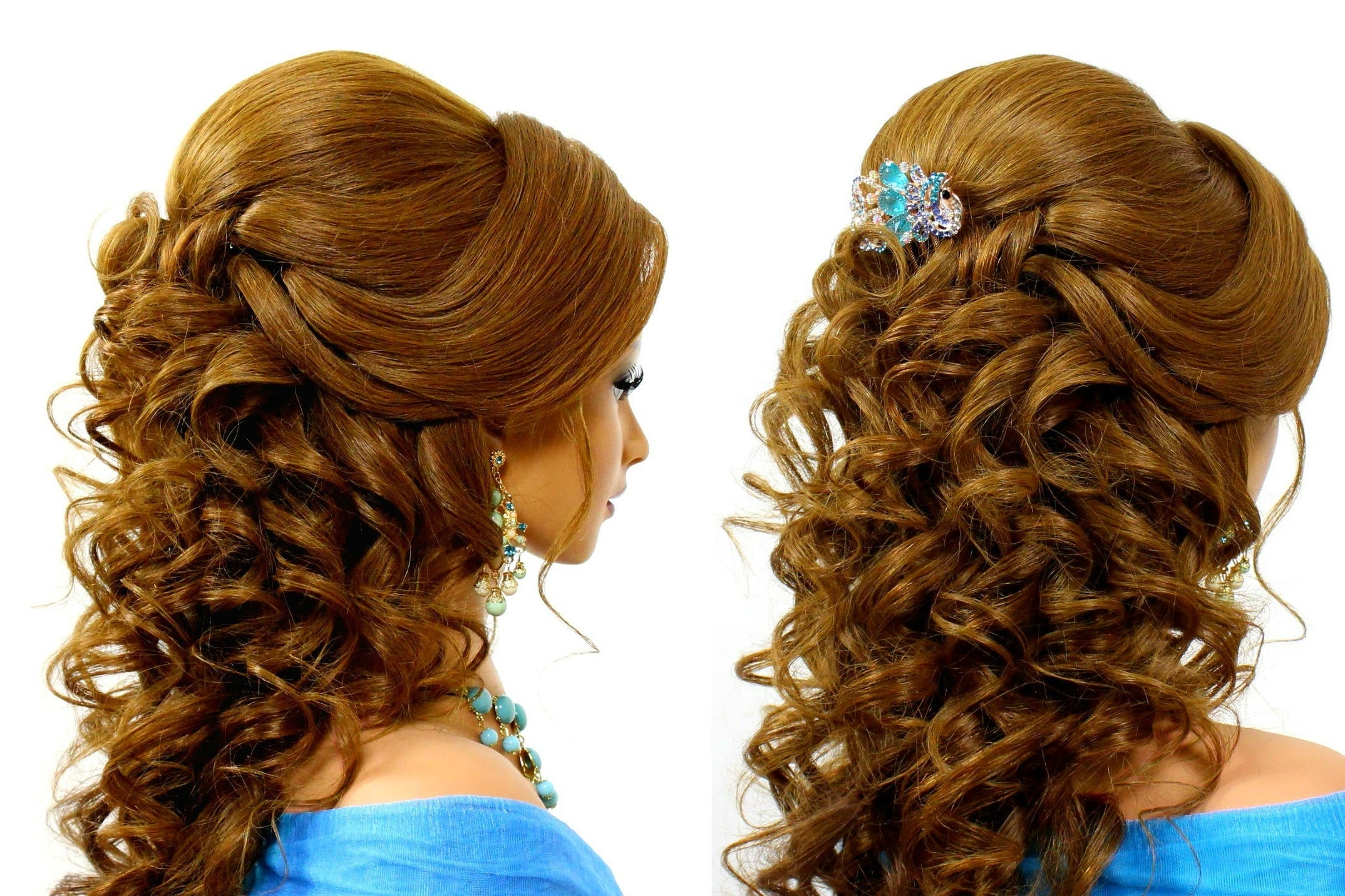 Preferred Wedding Hairstyles For Long Romantic Hair For Romantic Wedding Hairstyle For Long Hair Tutorial – Youtube (View 10 of 15)