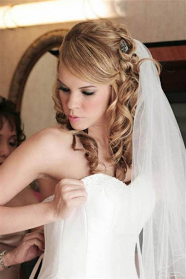 Preferred Wedding Hairstyles For Medium Length Hair With Bangs Regarding Hairstyle Wedding Wedding Hairstyles For Medium Length Hair Fashion (View 3 of 15)