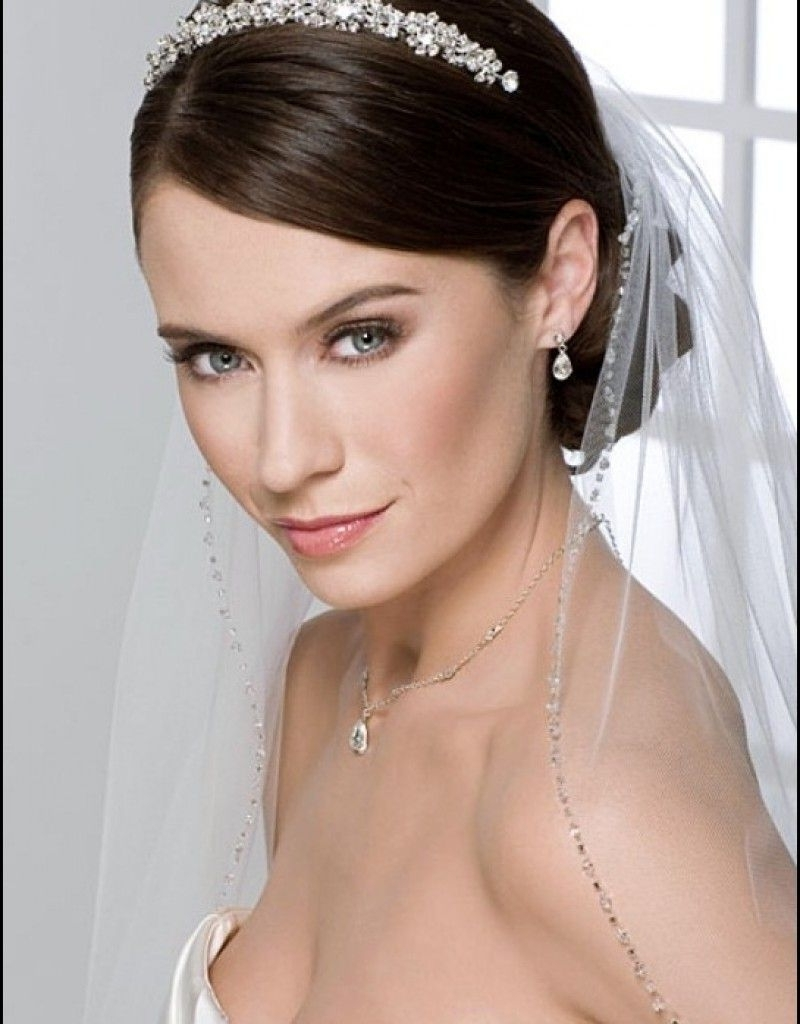 Preferred Wedding Hairstyles For Short Hair And Veil Regarding Fascinating Photo Wedding Hairstyles For Short Hair With Tiara And (View 12 of 15)