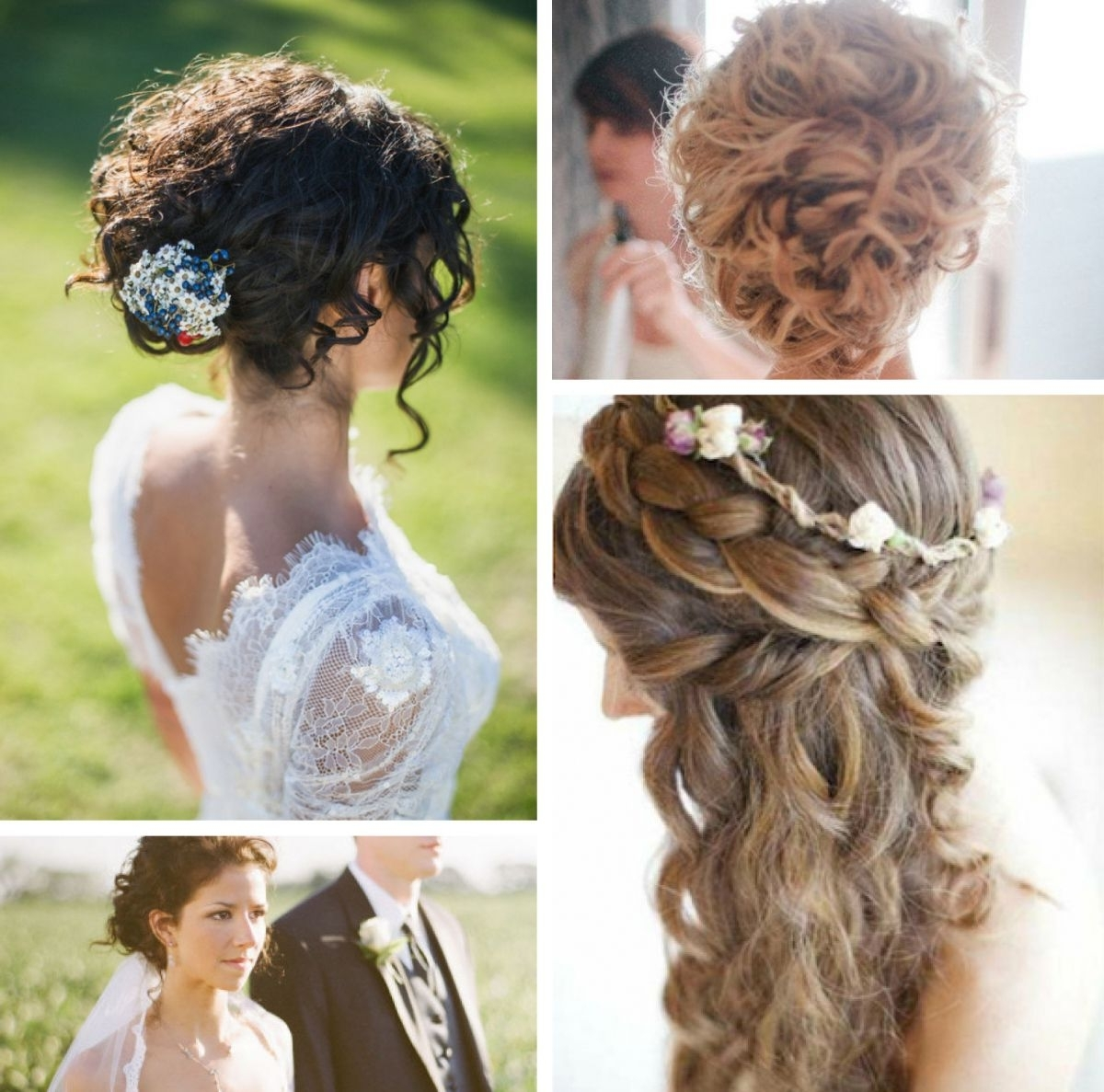Preferred Wedding Hairstyles For Short Natural Curly Hair Intended For Best Wedding Hairstyles For Naturally Curly Hair Off The Page Pic Of (View 11 of 15)