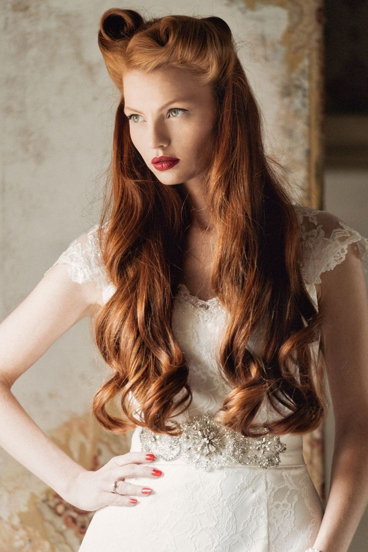 Preferred Wedding Hairstyles For Vintage Long Hair For 25 Ridiculously Romantic Bridal Updos : Chic Vintage Brides (View 5 of 15)