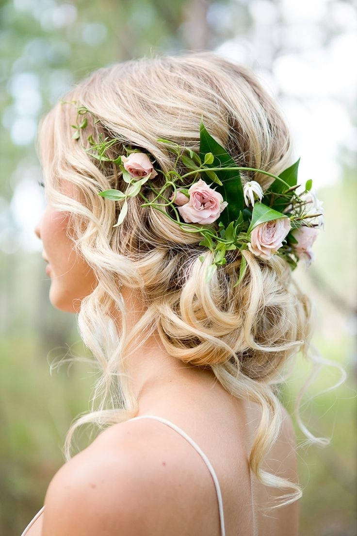 Preferred Wedding Hairstyles With Flowers For Wedding Hairstyles With Fresh Flowers Inspirational Best 25 Bridal (View 5 of 15)