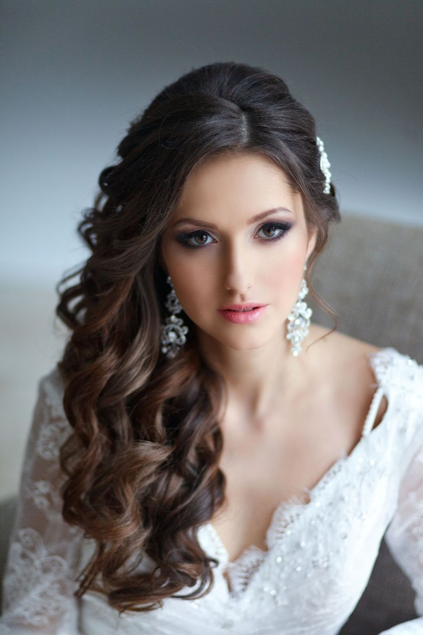 Prom Hairstyles Down To The Siderly Inspirational Bridesmaid Hair Up Within Favorite Wedding Hairstyles For Long Down Curls Hair (View 7 of 15)