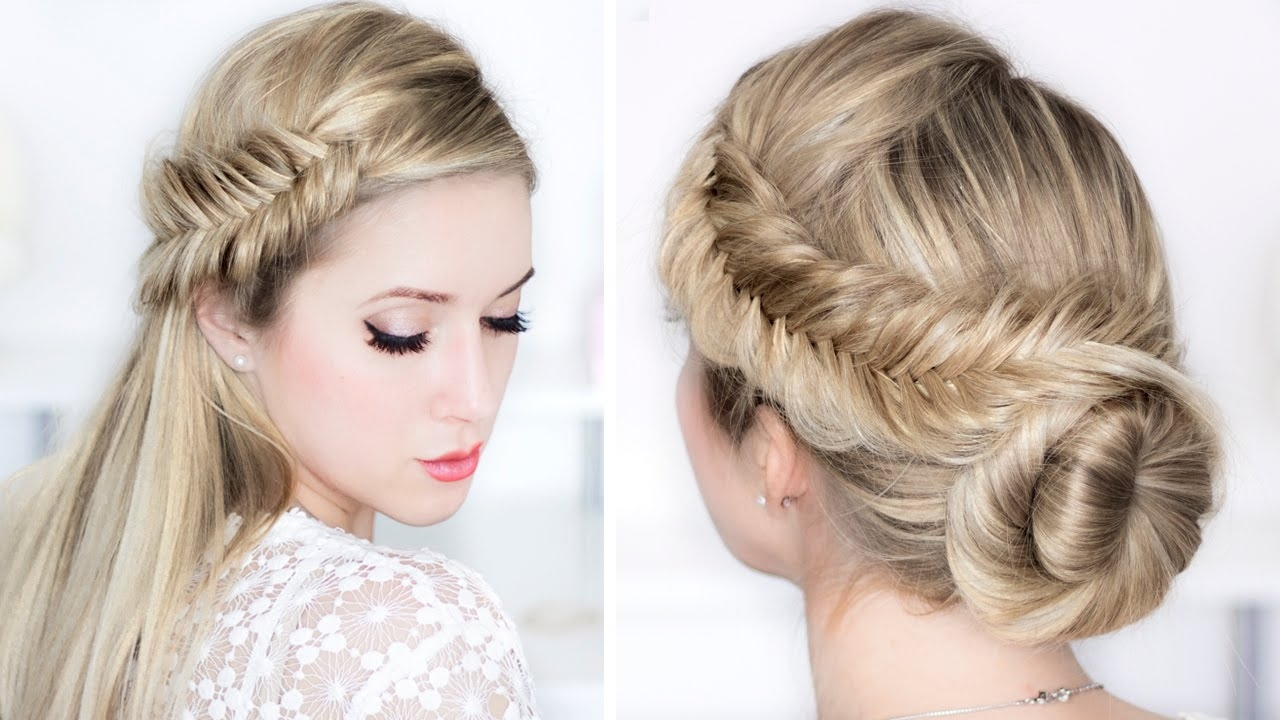 Prom/wedding/party Hairstyles ☆ Easy Day To Night Udpo ☆ Fishtail In Most Current Wedding Night Hairstyles (View 5 of 15)