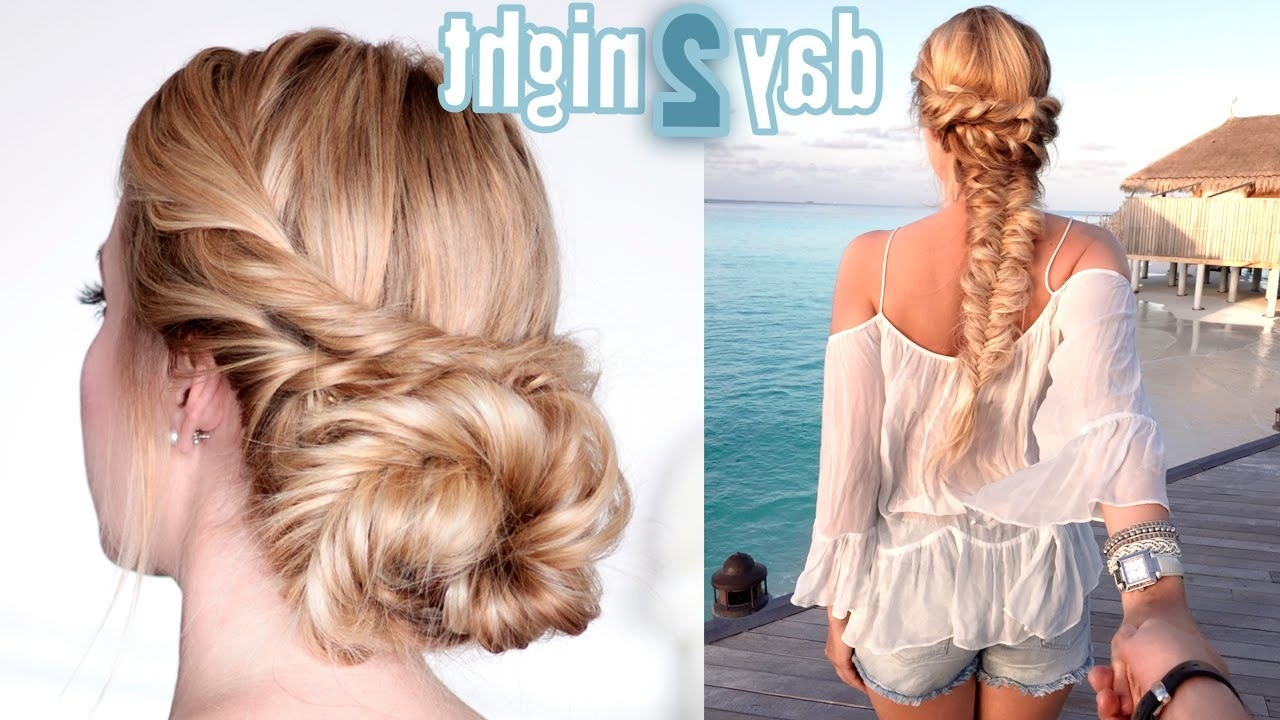 Prom/wedding/party Hairstyles ☆ Last Minute Day To Night Updo In Favorite Wedding Night Hairstyles (View 6 of 15)
