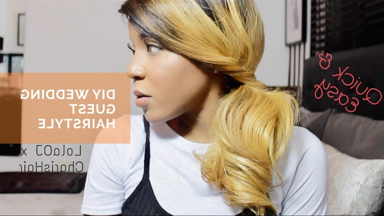 Quick & Easy Diy 'wedding Guest' Hairstyle With @charishair – Youtube Throughout 2018 Diy Wedding Guest Hairstyles (Gallery 15 of 15)