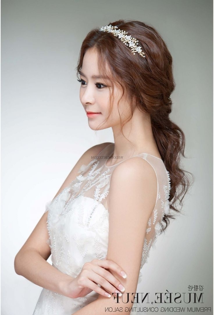 Recent Korean Wedding Hairstyles For Long Hair For Korean Wedding Hairstyles Front And Back Korean Hairstyles For Women (View 2 of 15)