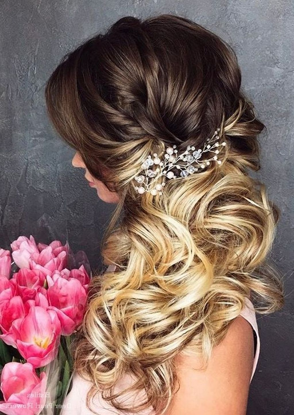 Recent Modern Wedding Hairstyles Throughout 36 The Best Modern Wedding Hairstyles Ideas For Long Hair – Fashionmoe (View 13 of 15)