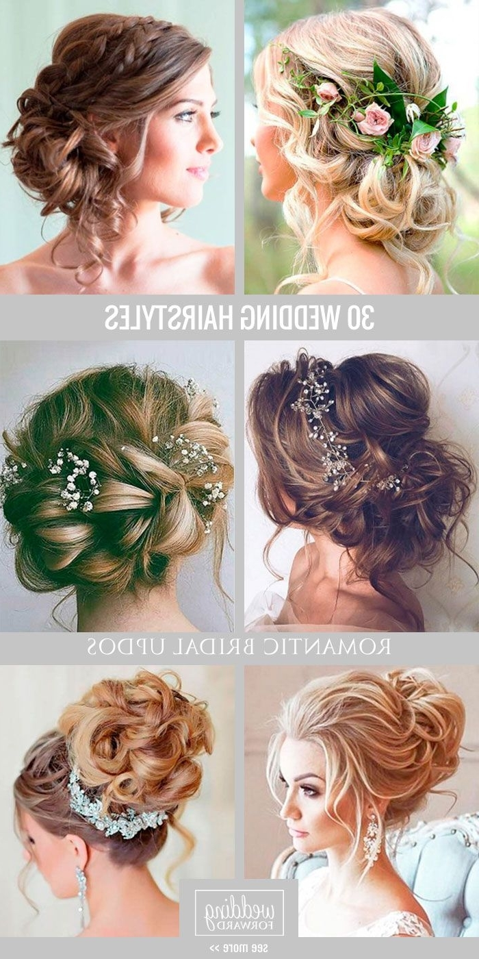 Recent Romantic Wedding Hairstyles In Bridal Hairstyles : 30 Most Romantic Bridal Updos & Wedding (View 4 of 15)