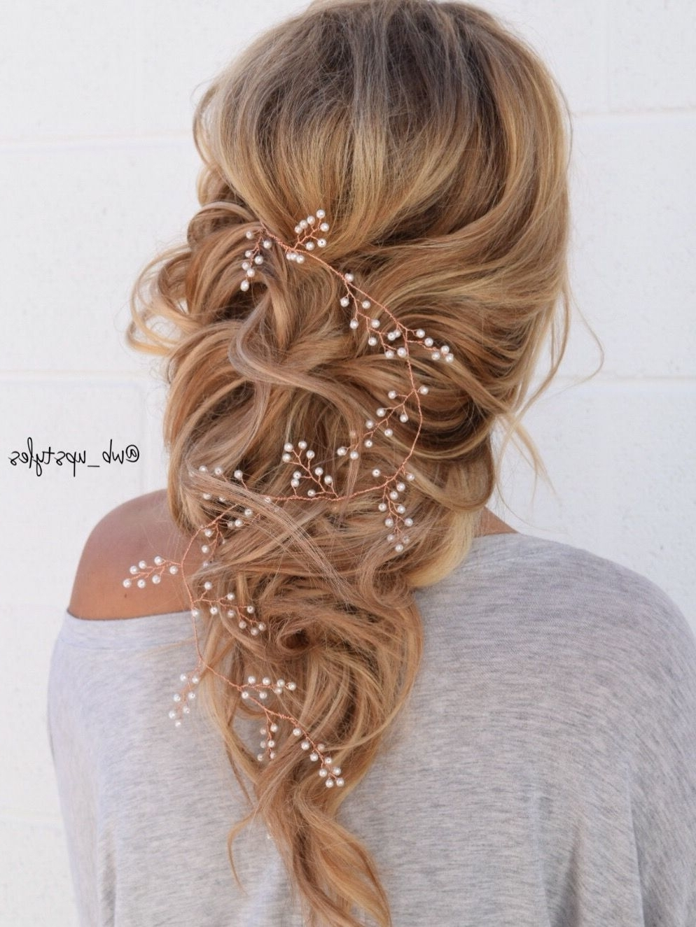 Recent Romantic Wedding Hairstyles Pertaining To Romantic Wedding Hairstyle. Bridal Down Hairstyle (View 6 of 15)