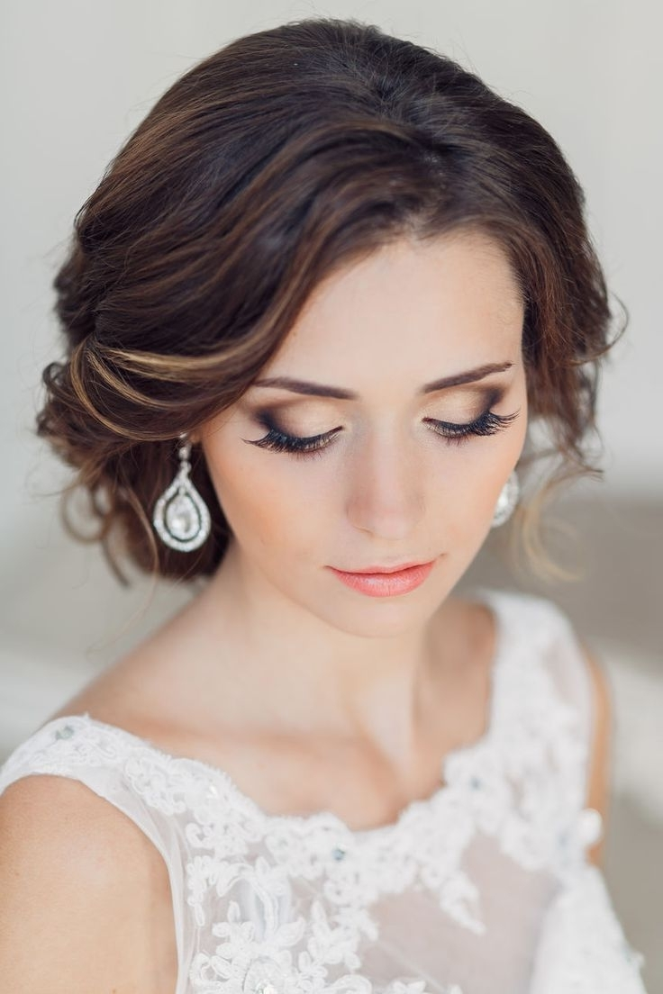 Recent Wedding Hairstyles And Makeup Throughout 10 Beautiful Wedding Day Makeup Ideas (Gallery 3 of 15)