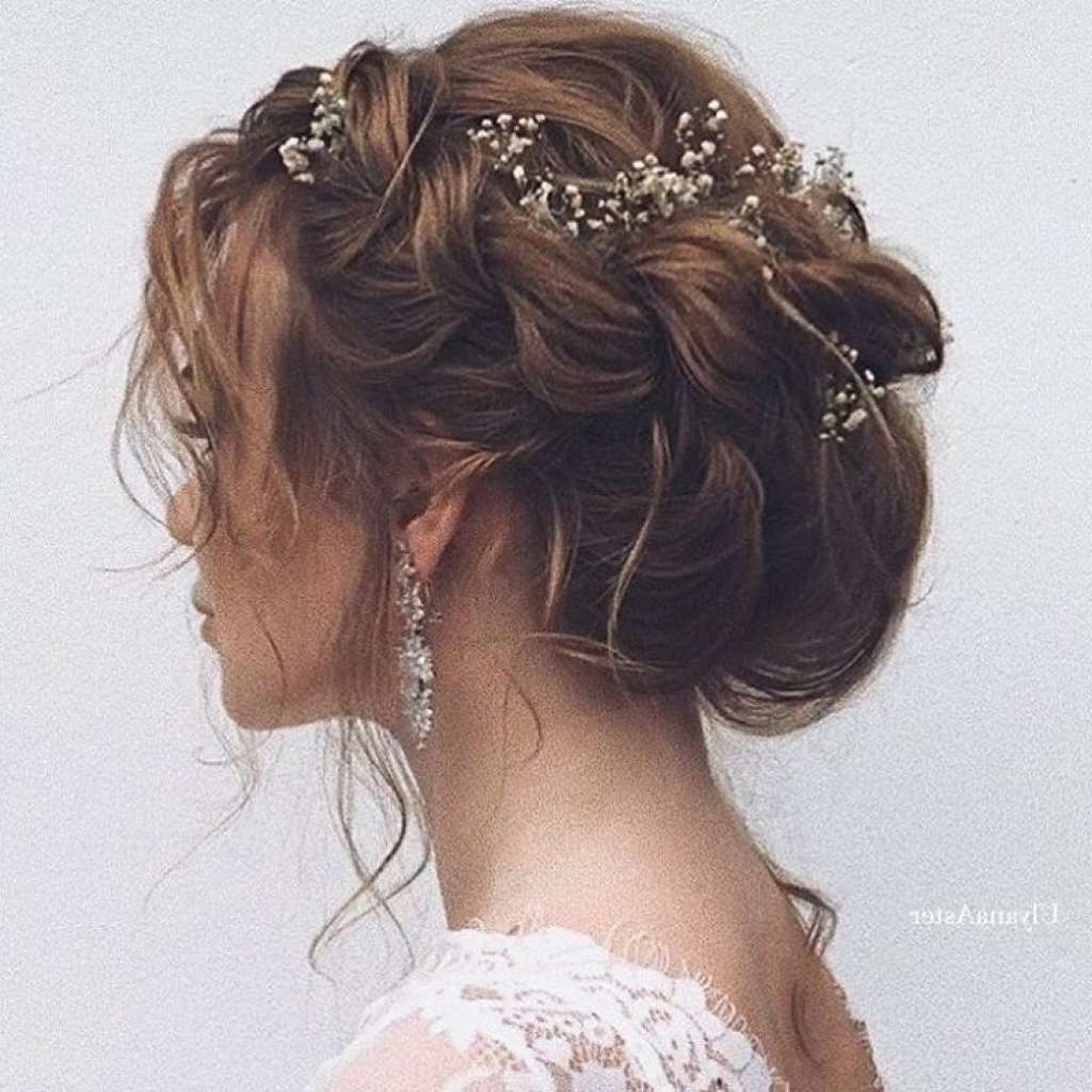 Recent Wedding Hairstyles For Long Brown Hair Regarding 20 Fresh Pics Of Wedding Hairstyles With Flowers Simple – Collectif (View 12 of 15)