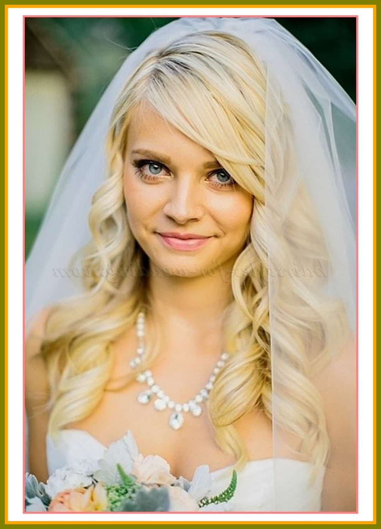 Recent Wedding Hairstyles For Medium Length Hair With Veil Pertaining To Incredible Best Ideas Wedding Hairstyles Medium Length Hair Veil (View 9 of 15)