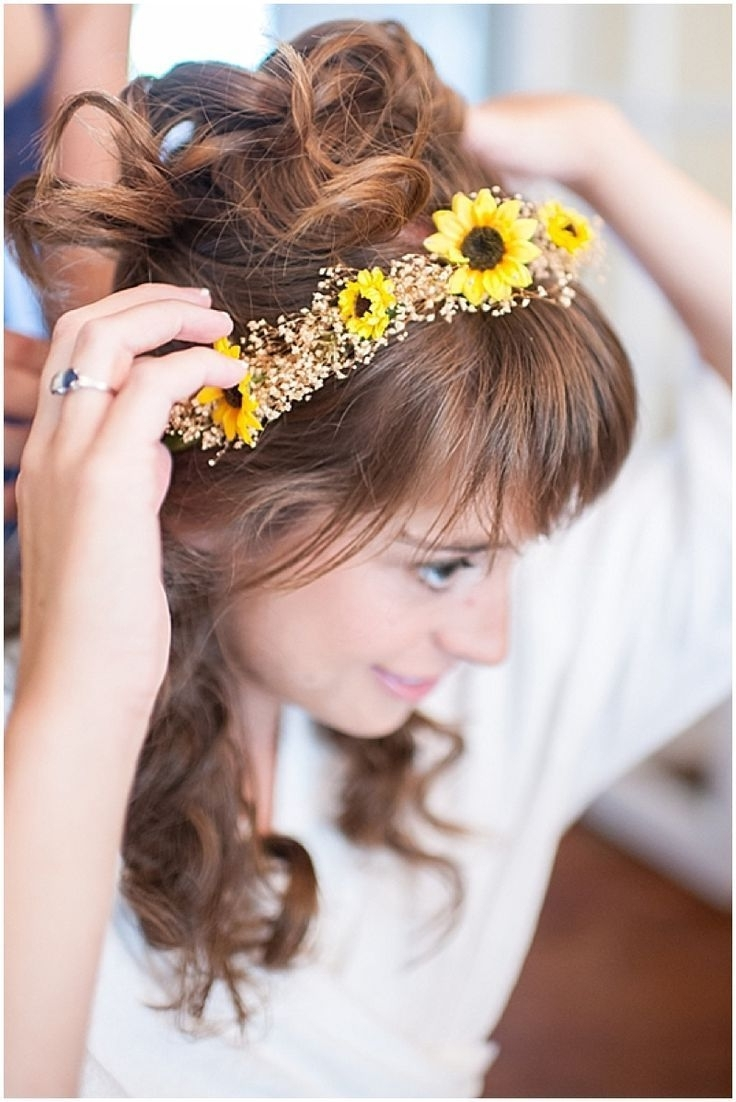 Featured Photo of Wedding Hairstyles With Sunflowers