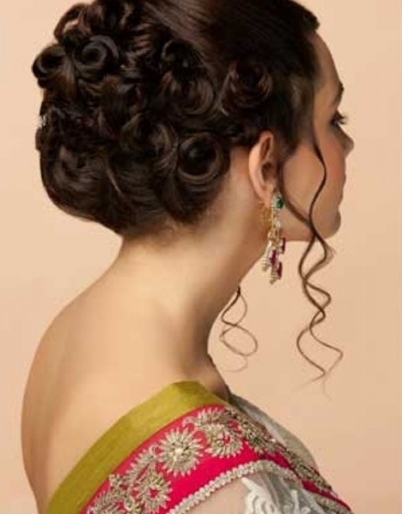 Recent Wedding Reception Hairstyles For Guests Within Indian Hairstyle For Wedding Party – Hairstyle For Women & Man (View 11 of 15)