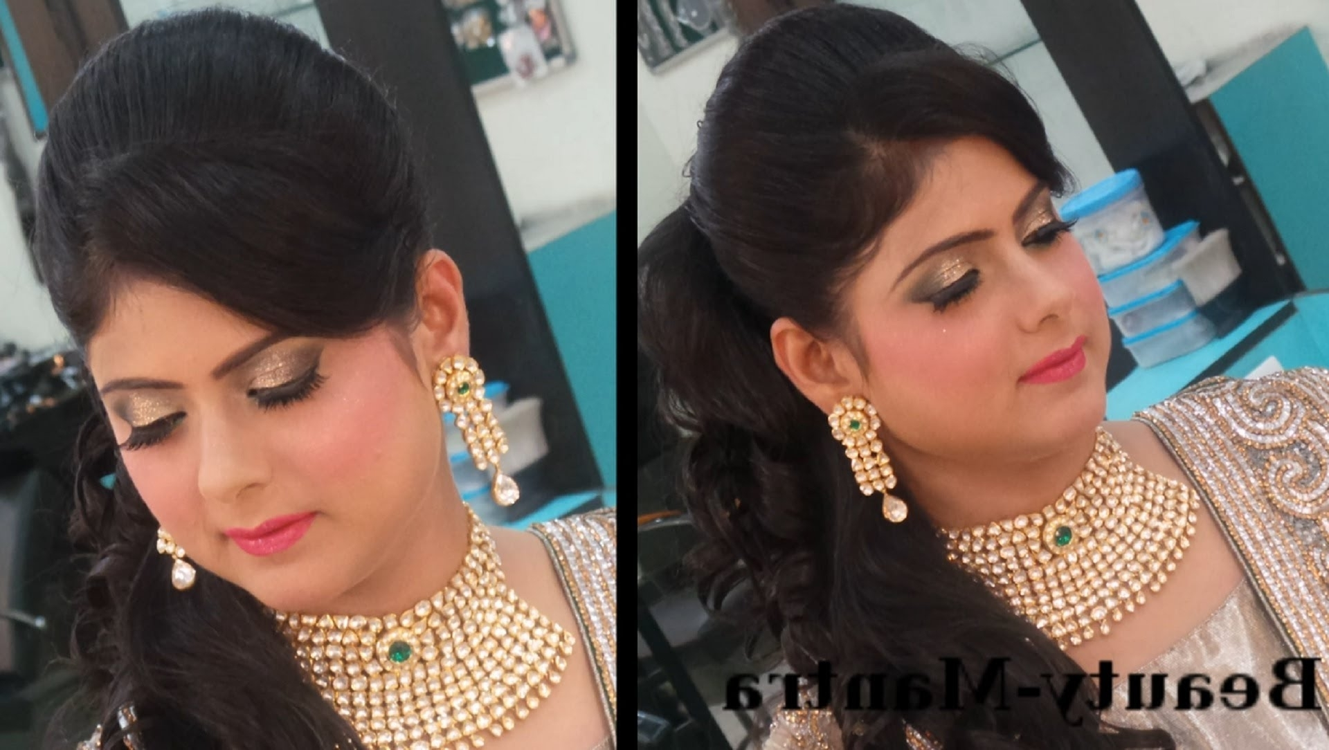 Featured Photo of Wedding Reception Hairstyles For Indian Bride