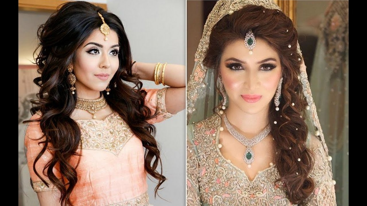 Reception Hairstyle For Bride/hairstyles For Indian Women/wedding With Well Known Wedding Reception Hairstyles For Guests (View 12 of 15)
